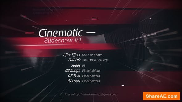 Videohive Cinematic Slideshow V.1