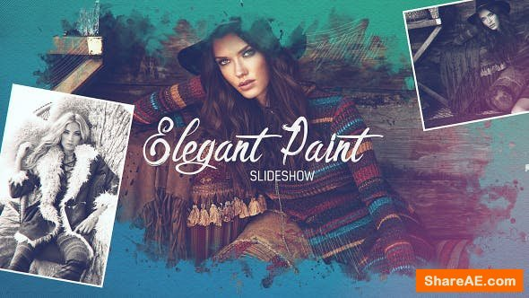 Videohive Elegant Paint Slideshow