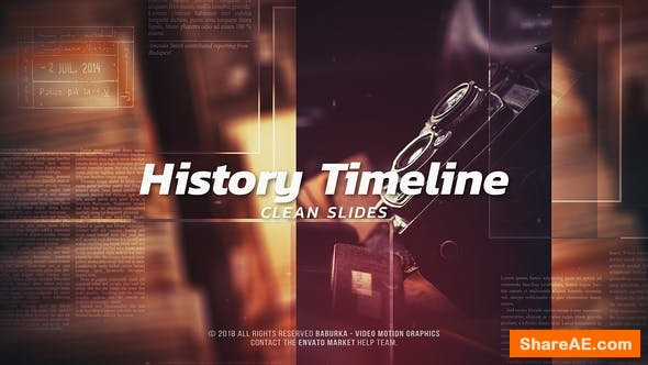 Videohive History Timeline - Clean Slides