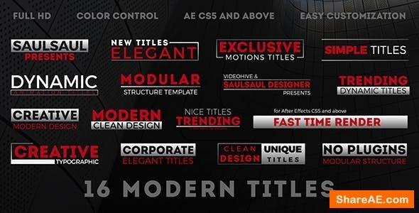 Videohive Modern Titles 20607281