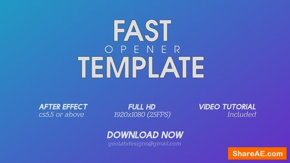 Videohive Fast Opener 3