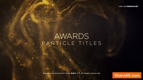 Videohive Awards Particles Titles