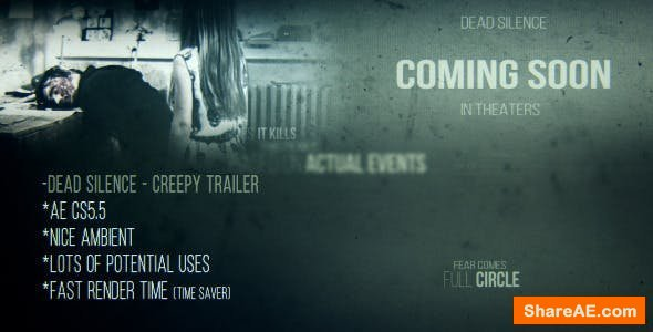 Videohive Dead Silence - Creepy Trailer