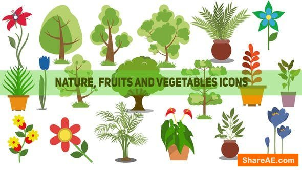 Videohive 110 Nature, Fruits and Vegetables Icons