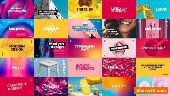 Videohive Typography Pack 23393332
