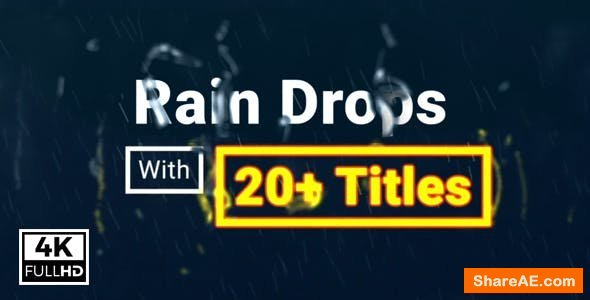 Videohive Rain Drops With Titles