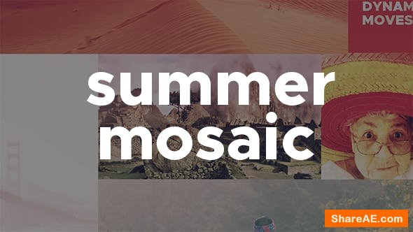 Videohive Summer Mosaic Slideshow