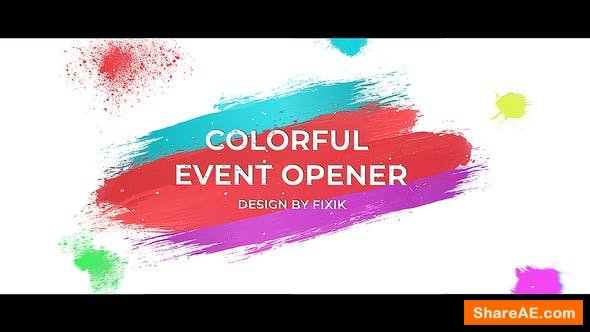 Videohive Colorful Event Opener