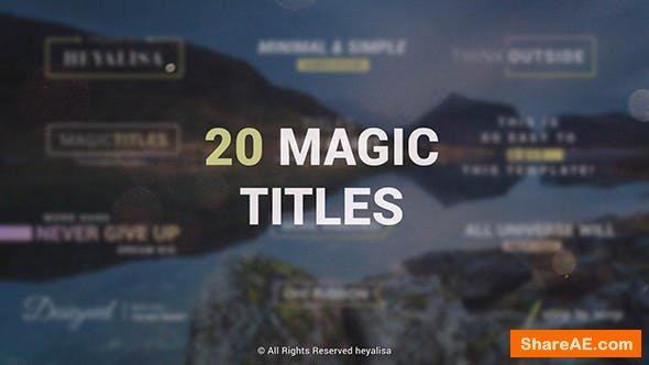 Videohive Essential // Minimal Simple Titles Pack