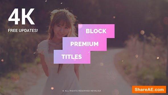 Videohive Block | Premium Titles