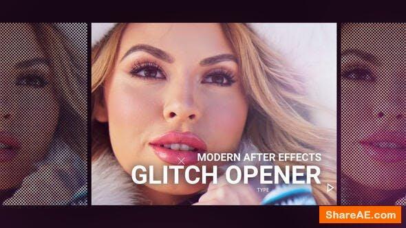Videohive Modern Glitch Opener 19399117