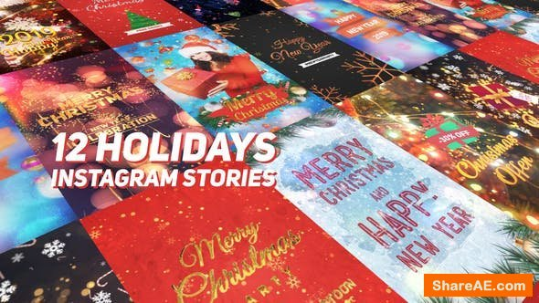Videohive Holidays Instagram Stories Pack