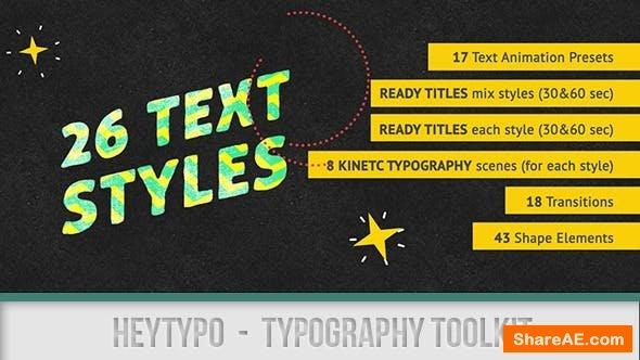 Videohive Heytypo // Typography Toolkit