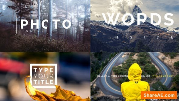 Videohive Title Inside Photo