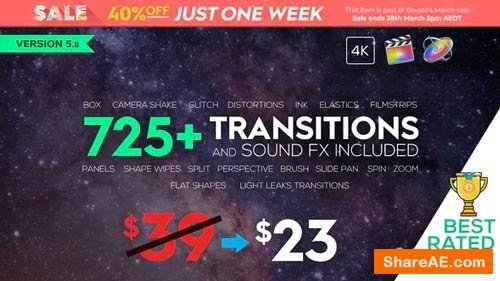 Videohive FCPX 725+ Transitions and Sound FX v5.8