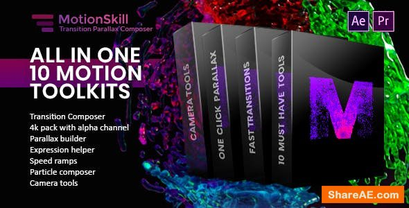 Videohive All in One Motion, Transition, Parallax, Expression ToolKit