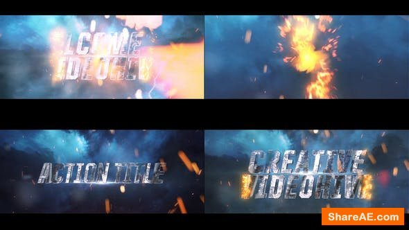 Videohive Cinematic Action Text Intor