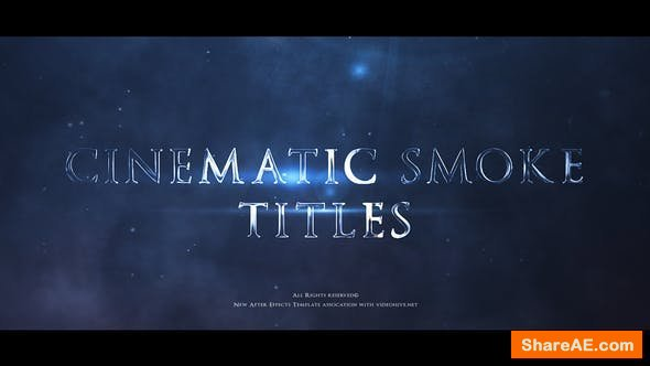 Videohive Cinematic Smoke Trailer Titles