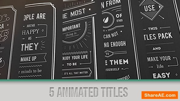 Videohive Titles Collection 5135631