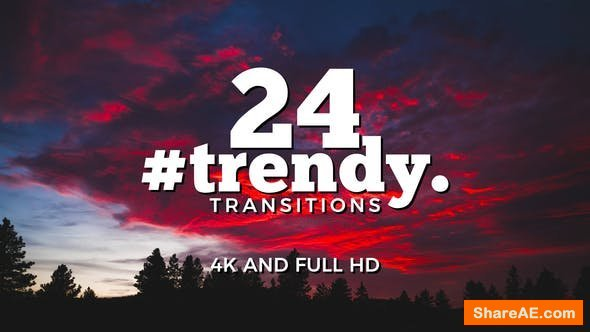 Videohive Trendy Transitions Pack