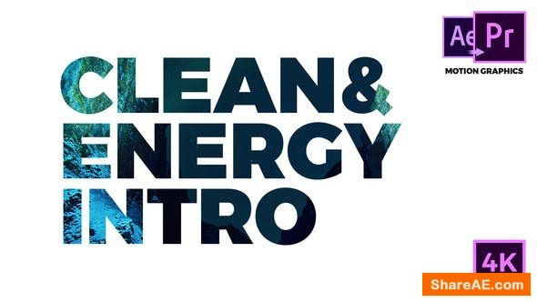 Videohive Clean & Energy Intro - Premiere Pro