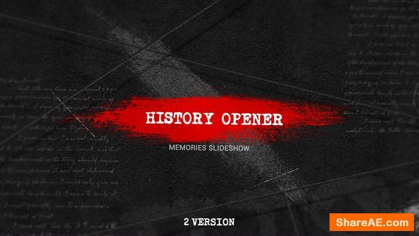 Videohive History Opener 23470884