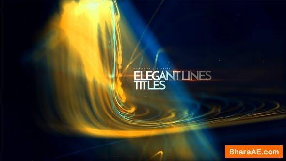 Videohive Elegant Lines Titles