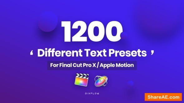 Videohive Animated Text Presets for Final Cut Pro and Apple Motion