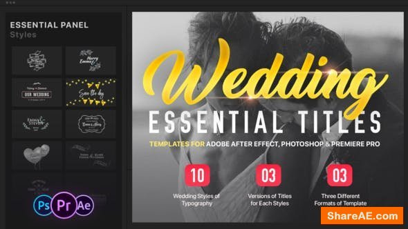 Videohive Essential Wedding Titles | MOGRT - Premiere Pro
