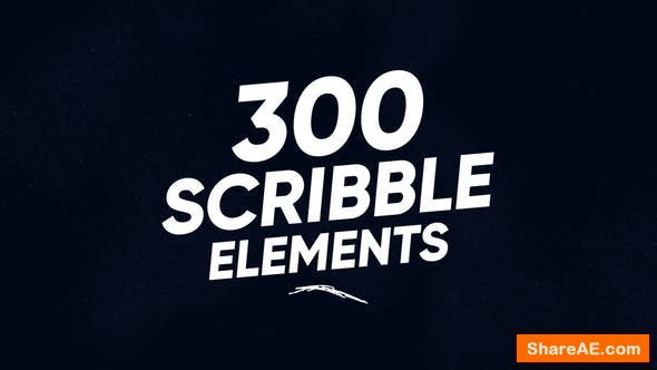 Videohive 300 Scribble Elements