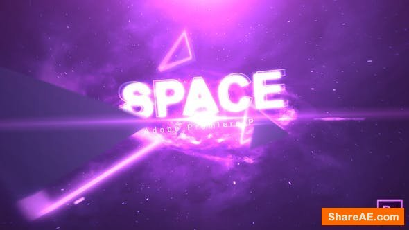Videohive Space Text - Premiere Pro