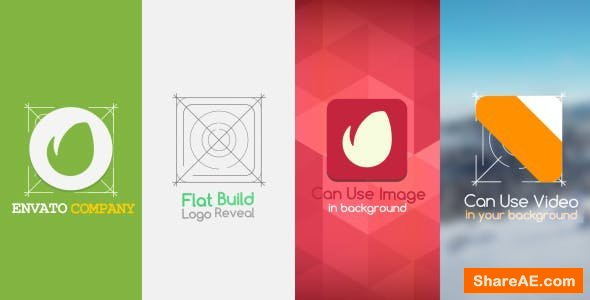 Videohive Flat Build Logo Reveal