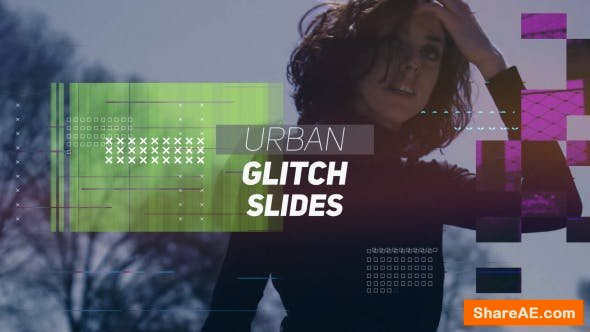 Videohive Urban Glitch Slides