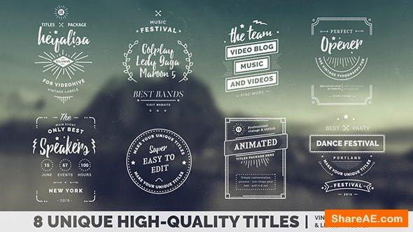 Videohive Vintage Titles