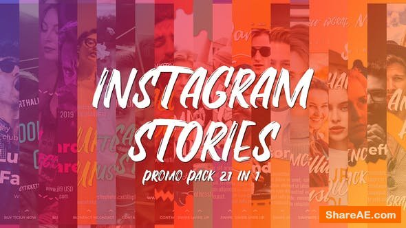 Videohive Instagram Stories Promo Pack 21 in 1