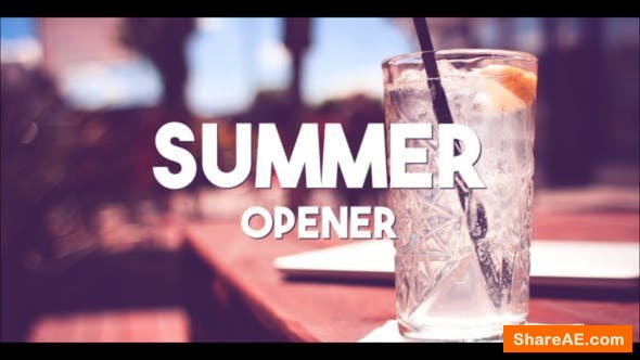 Videohive Summer Typography Slides