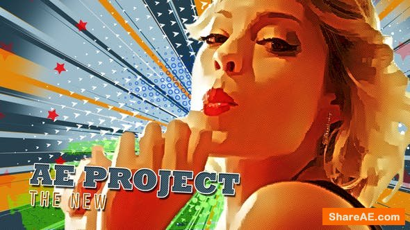 Videohive Freeze Frame Pop Art Retro Trailer