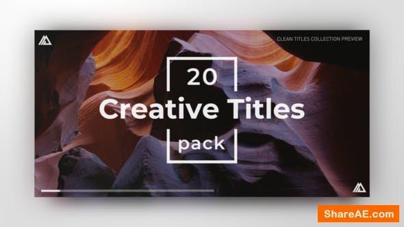 Videohive Simple Minimal Titles