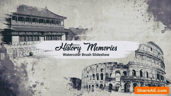 Videohive History Memories // Watercolor Brush Slideshow