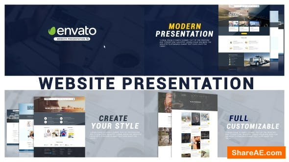 Videohive Minimal Website Presentation