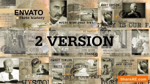 Videohive Historical photography 11658257