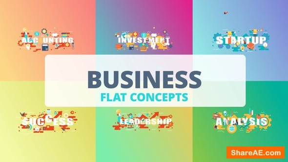 Videohive Business - Typography Flat Concept