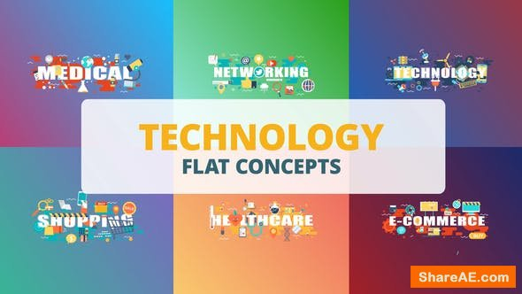 Videohive Technology - Typography Flat Concept