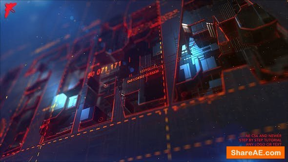 Videohive Transforming Element3D Logo
