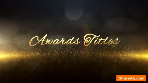 Videohive Awards Titles 3D