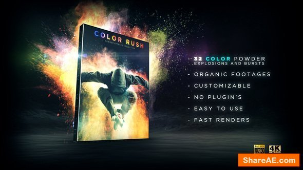 Videohive Color Rush - Color Powder Collection - Motion Graphic