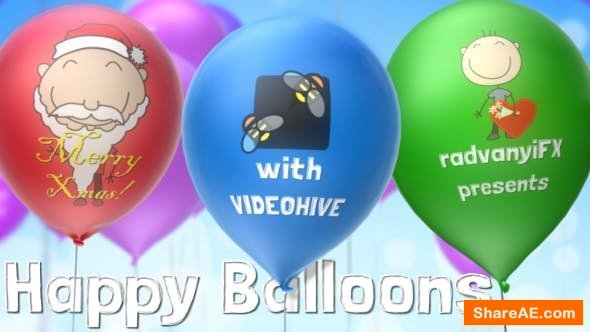 Videohive Happy Balloons