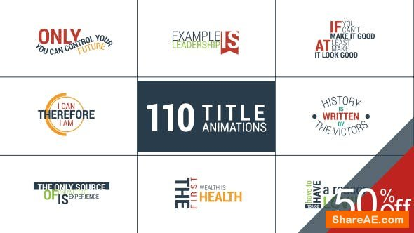 Videohive 110 Title Animations