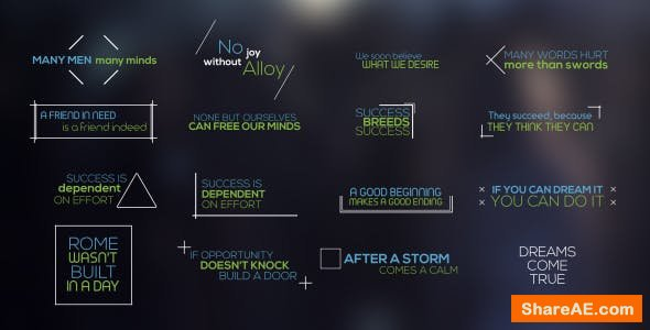 Videohive Minimal Titles and Lower Thirds