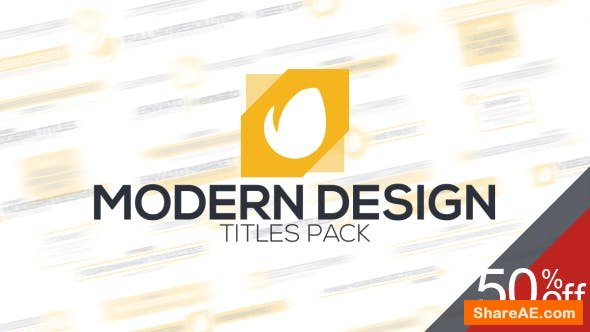 Videohive Modern Titles 15599486